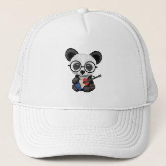 Baby Panda Playing French Flag Guitar Trucker Hat