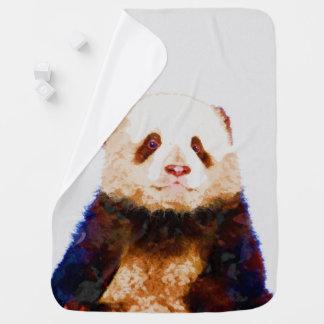 Baby Panda Watercolor Nursery Print Buggy Blankets