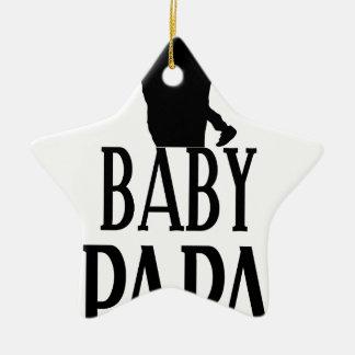 Baby papa ceramic ornament
