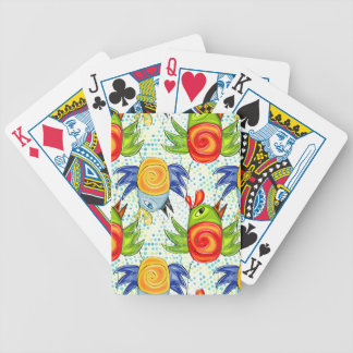 Baby parrots doodle design bicycle playing cards