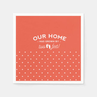 Baby party napkins our home has grown by two feet paper serviettes