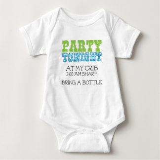 Baby Party Tonight at My Crib Baby Bodysuit