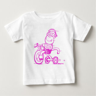 Baby Pedalling Monkey Tricycle Baby T-Shirt