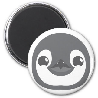 baby penguin face 6 cm round magnet