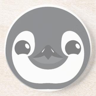 baby penguin face coaster