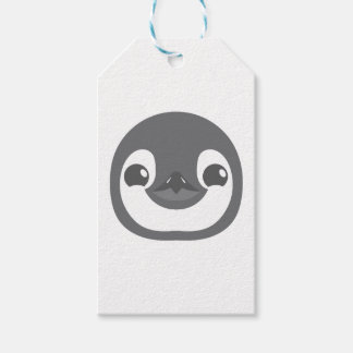 baby penguin face gift tags