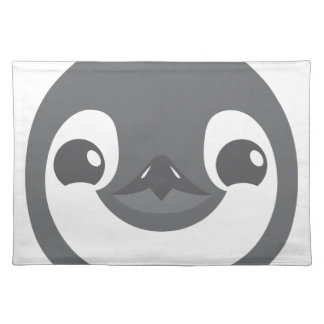 baby penguin face placemat