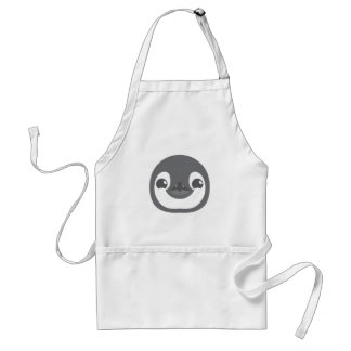 baby penguin face standard apron