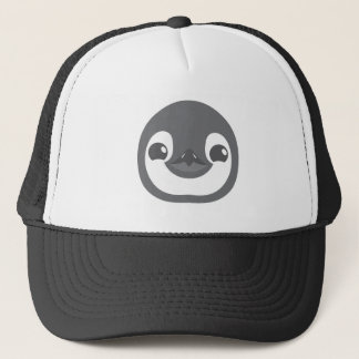 baby penguin face trucker hat