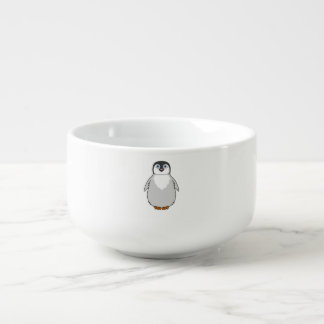 Baby Penguin in Natural Gray Soup Mug
