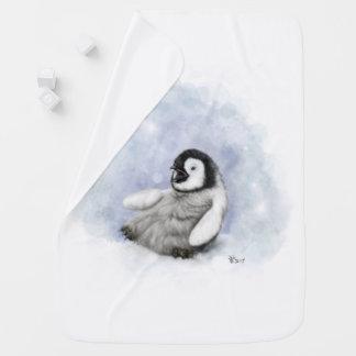 Baby Penguin Slipping Baby Blanket