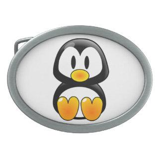 baby penguin tux belt buckle