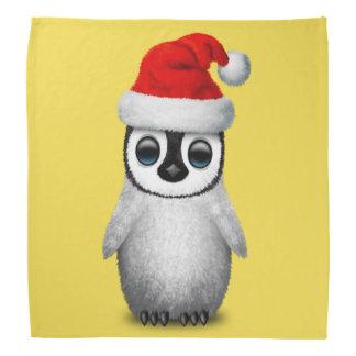 Baby Penguin Wearing a Santa Hat Bandana