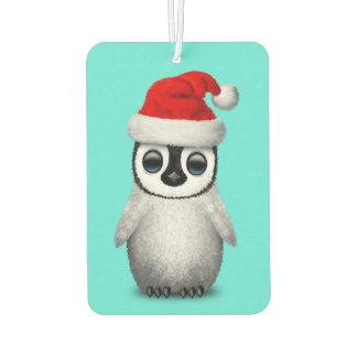 Baby Penguin Wearing a Santa Hat Car Air Freshener