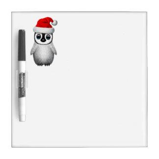 Baby Penguin Wearing a Santa Hat Dry Erase Board