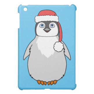 Baby Penguin with Red Santa Hat iPad Mini Cover