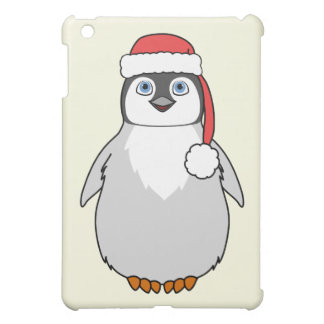 Baby Penguin with Red Santa Hat iPad Mini Covers