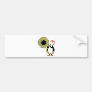 Baby Penguin with Tuba Bumper Sticker