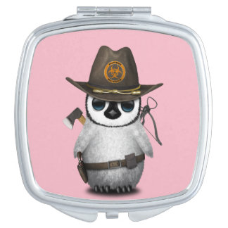 Baby Penguin Zombie Hunter Compact Mirrors