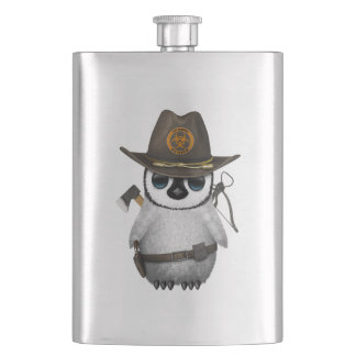 Baby Penguin Zombie Hunter Hip Flask