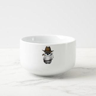 Baby Penguin Zombie Hunter Soup Mug