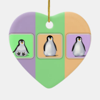 Baby Penguins Christmas Tree Ornament