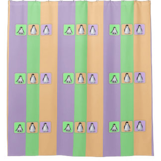 Baby Penguins Shower Curtain