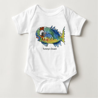 Baby Personalized Infant Parrot Fish Baby Bodysuit