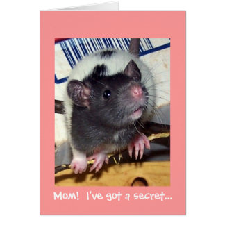 Baby Pet Rat Mother's Day Card
