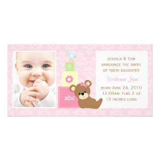 Baby Photo Announcement Customised Photo Card