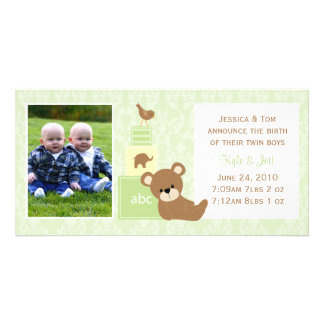 Baby Photo Announcement Personalised Photo Card