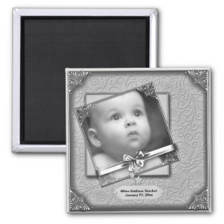 Baby Photo Birth Announcement Magnets Refrigerator Magnets