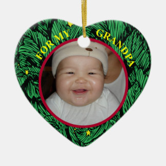 Baby Photo Gift Tag & Ornament FOR Grandpa