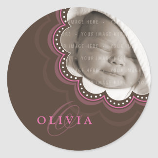 BABY PHOTO NAME STICKER :: sweet bloom 7