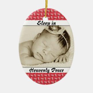 Baby Photo Sleep in Heavenly Peace Ornament