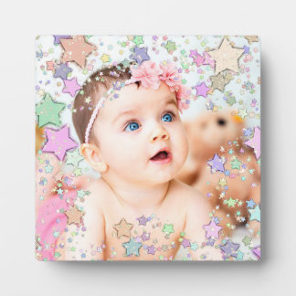 Baby Photo Star Surrounded Plaque