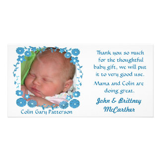 Baby photo thank you cards customized photo card