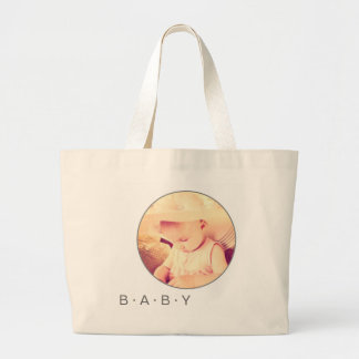 Baby Picture Custom Round Large Tote Bag
