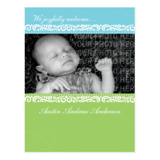 Baby Picture Frame Announcement Postcard