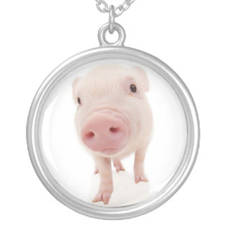 Baby Pig Piglet Necklace