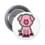 Baby Pig Sticker 6 Cm Round Badge