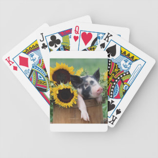 Baby Piglet Sunflower Pig Playing Cards