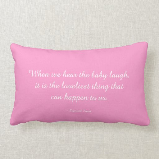 Baby Pillow quoting Sigmund Freud Throw Pillows