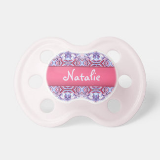 Baby Pink and Blue Cloud Pattern Pacifer Binky Dummy