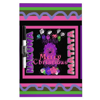 Baby pink Beautiful Merry Christmas Hakuna Matata Dry Erase Boards