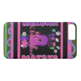 Baby pink Beautiful Merry Christmas Hakuna Matata iPhone 7 Plus Case
