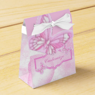 Baby Pink Butterfly Favor Box