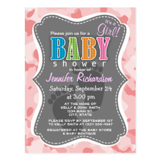Baby Pink Camo; Camouflage Postcard
