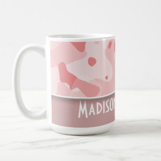 Baby Pink Camo; Personalized Coffee Mug