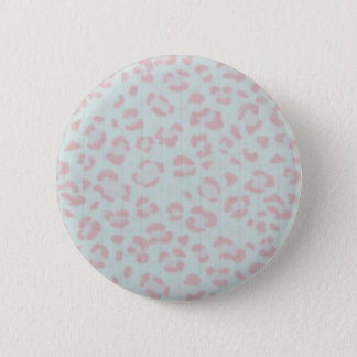 baby pink cheetah animal jungle print 6 cm round badge
